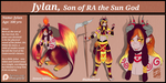 OC: Jylan the Son of Ra (redesigned)(ref) by shaygoyle