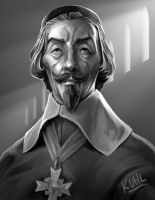 Cardinal Richelieu by chriskuhlmann