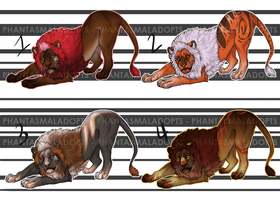 *Price Reduced!* Lion Adopts [CLOSED] by PhantasmalAdopts