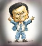 Caricature Thaksin of Thailand