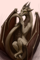 This dragon being hungry does no make him scary by Zyonji