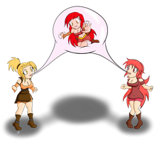 Chibi: Scarlett, Nova, Ruby Bubble Fun by Scarlett-Nova