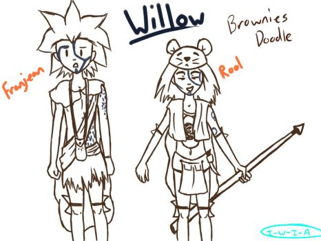 Willow: Brownies doodle by I-Walk-In-Air