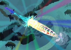 Princess Celestia vs. Nightmare Moon Poster by imageconstructor