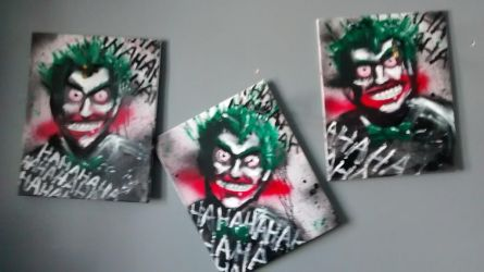 3 Joker paintings by J2040