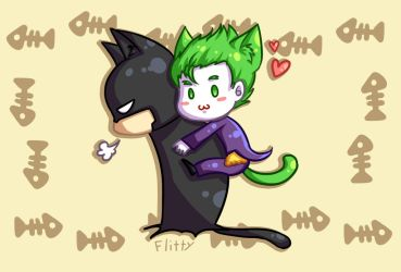 BatJoke Kitty by CatFlitty