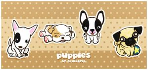 Funny Puppies - 2 by SquidPig
