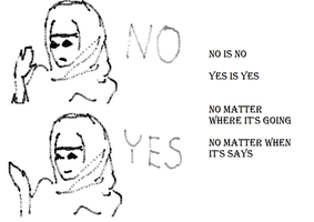 no is no yes is yes by WhiteLedy