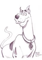 Daily Sketches Scooby Doo by fedde
