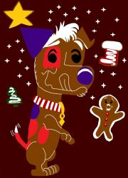 Gingerbread Capi and Christmas Cookies by cartoonfan707