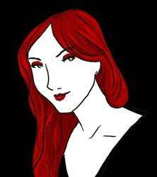 Red hair and deadly stare by RevisionOfLines