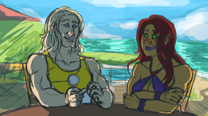 happy sun babes (wip) by Yurbleyurble13