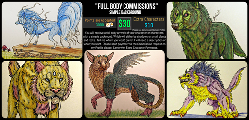 *OPEN*Full Body/Simple Background Commission Sheet by VorpalBeasta