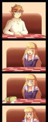 Skyward Sword: The perfect gift by Zelbunnii