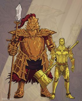 Dark Souls: Ornstein and Smough by MenasLG