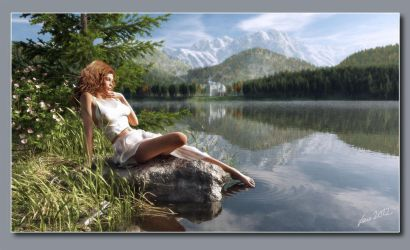 The Lady by the Lake by neanderdigital