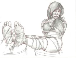 Tickling and Licking Her Tied Feet by Francpack