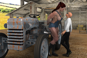 Farm giantess by jstilton