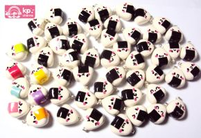 kawaii onigiri army by KPcharms