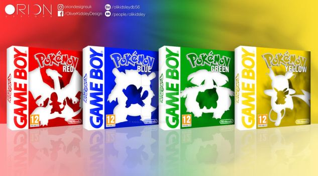 Pokemon Red, Blue, Green and Yellow by KidsleyKreations
