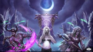...Commission: Night Elf Trio... by ShadowPriest