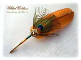 PEYOTE Feather Quill Pen by ChaeyAhne