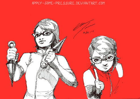 Uchiha Sarada - She's ready! by Apply-Some-Pressure