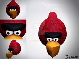 AngryBirds 3d Project Red Bird by daniacdesign