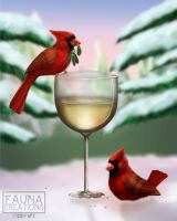 Snow Birds by JWatkinsArt