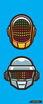Daft Punk Vector by funky23