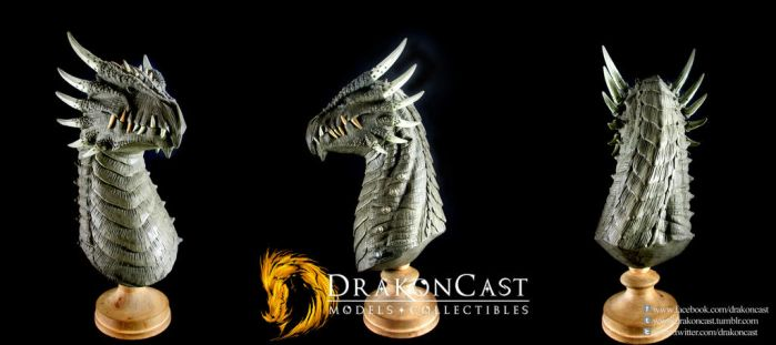 Spined Dragon bust final sculpt by drakoncast
