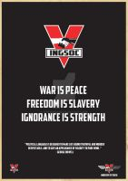 1984 WAR IS PEACE Poster by stevie52