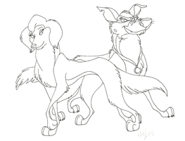 ADGTH-Power Couple ink by Stray-Sketches