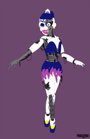 Nightmare Ballora Vectors Only by PinkyPills