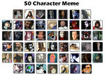 50 Character Meme by DoctorCritical