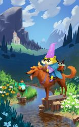 Wizard Cats! by bearmantooth
