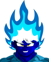Blue Flame DBZ style by Liyito