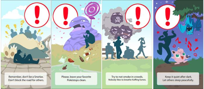 Pokemon Go warnings by MagdaPROski