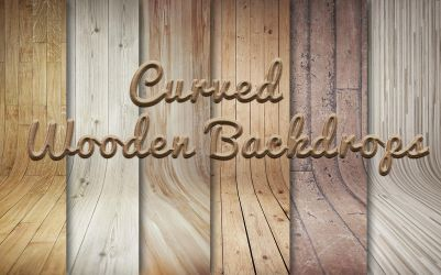 Curved Wooden Backdrops by DigitalConnection