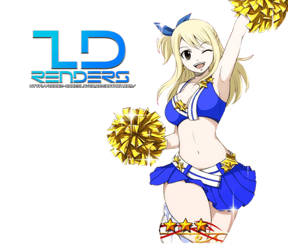 Lucy Heartphilia Cheerleader Render by Zebaz-DarkSlayer