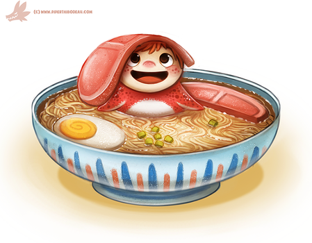 Daily Painting #970. Ponyo! (FA) by Cryptid-Creations