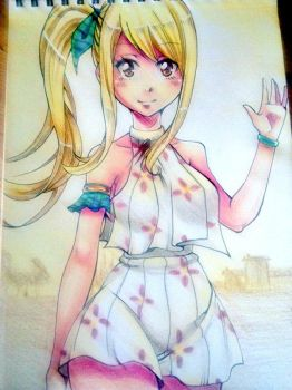Lucy on vacation by DevilishMirajane