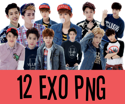 12 EXO PNG by dyoomma