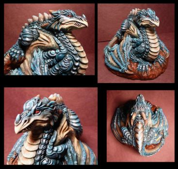 Completed Dragon piece View set 2 FOR SALE by Meadowknight