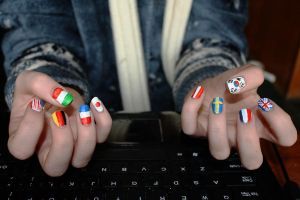 Country Flag Nails by BlueDaisy767