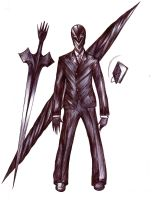 RyngBearer - Black Suit Summon - full weapons by Antervantei