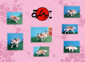 Okami and Issun figure SOLD by Ishtar-Creations