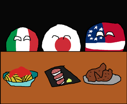 Italian, Japanese and Southern food by Disney08