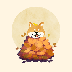 Autumn Leaf Doge by Yudine