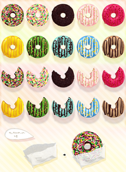 .: DL SERIES :. Rainbow donut by NightLightStar01